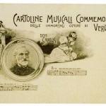 Cartolina commemorativa appartenente ad una serie dedicata alle opere di Giuseppe Verdi, sec. XX prima metà (Collezione Walter Bisca)