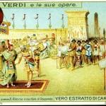 Figurina pubblicitaria dell'estratto di carne Liebig con illustrazione tratta dall'opera Aida di Giuseppe Verdi, 1913 (Museo della figurina)