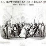 Frontespizio dello spartito per canto e pianoforte de La battaglia di Legnano di Giuseppe Verdi, 1850 (Fondazione Istituto nazionale di studi verdiani)