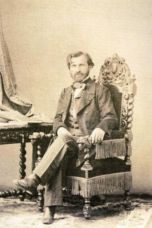 Eugène Disdéri, ritratto di Giuseppe Verdi, 1860 ca