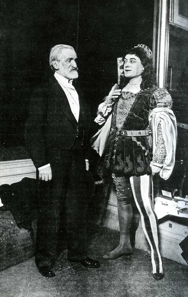 Giuseppe Verdi con il baritono Victor Maurel, Parigi 1894