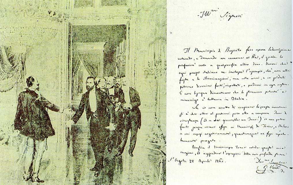 Fortunato Matania, Giuseppe Verdi e Vittorio Emanuele II, sec. XIX