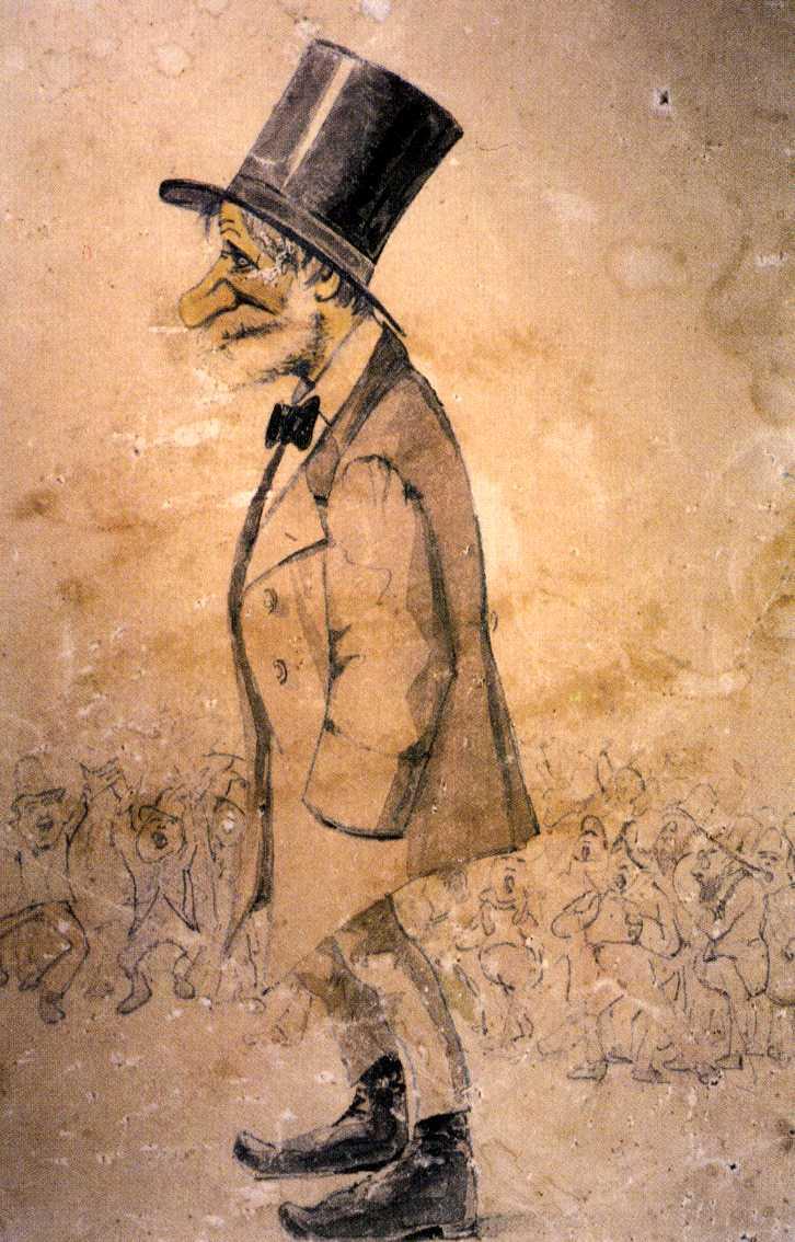 Melchiorre Delfico, caricatura, sec. XIX