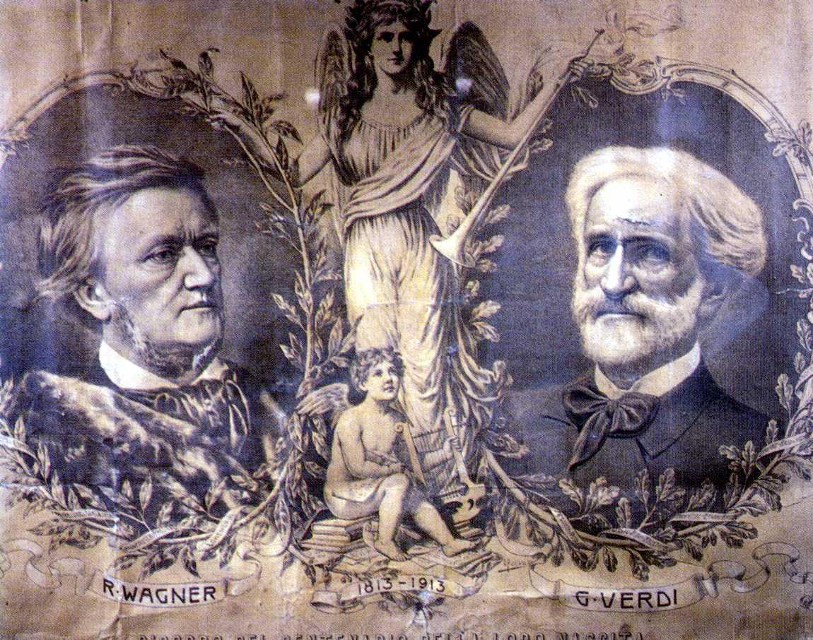 Giuseppe Verdi e Richard Wagner, 1913