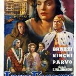 Locandina del film di Enrico Fulchignoni, I due foscari, 1942 (Istituto nazionale di studi verdiani)